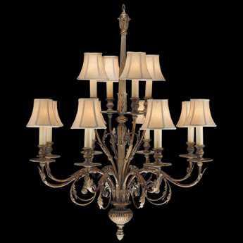 Fine Art Lamps Verona 710340ST 12-Light 36'' Wide Grand Chandelier FA710340ST
