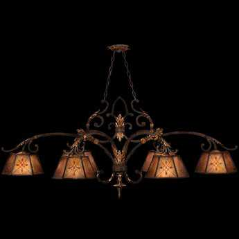 Fine Art Lamps Villa 1919 302540ST Six-Light 60'' Wide Grand Chandelier FA302540ST