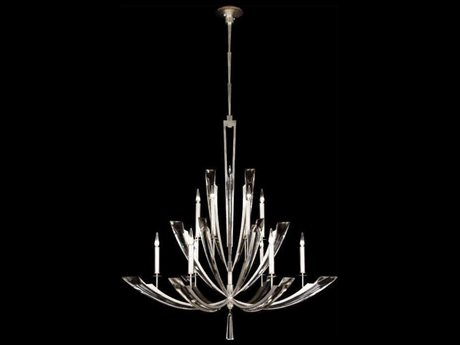 Fine Art Lamps Vol De Cristal 789840ST 12-Light 54'' Wide Grand Chandelier