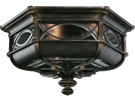 Fine Art Lamps Warwickshire 611682ST Three-Light Outdoor Ceiling Light