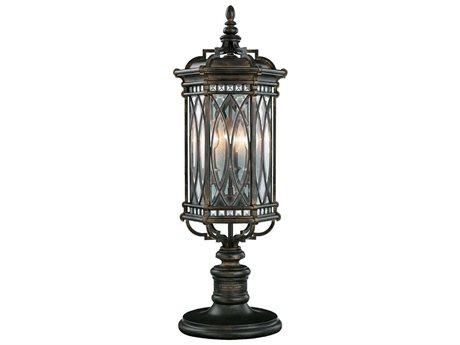 Fine Art Lamps Warwickshire 611283ST Three-Light Outdoor Post Light