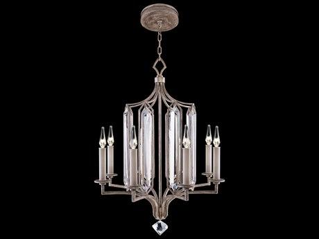 Fine Art Lamps Westminster Antique Silver Eight-Light 25'' Wide Chandelier FA8850401ST