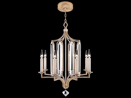 Fine Art Lamps Westminster Gold Eight-Light 25'' Wide Chandelier FA8850402ST
