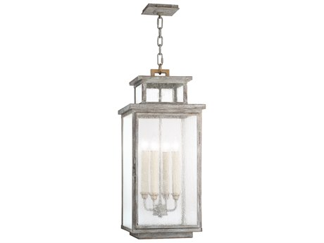 Fine Art Lamps Wiltshire Weathered Grey Four-Light Outdoor Lantern FA886882ST