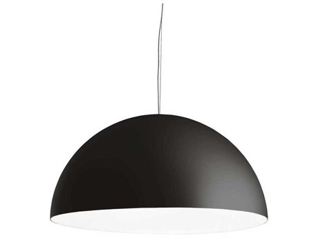 Fontana Arte Avico Black Three-Lights 47'' Wide Pendant Light FONUL55610NBI