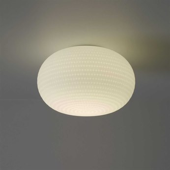 Fontana Arte Bianca Satin White Glass 20'' Wide Flush Mount Light FONU43281BI