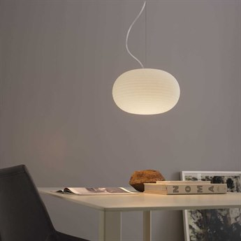 Fontana Arte Bianca White 20'' Wide Pendant Light FONU43061BI