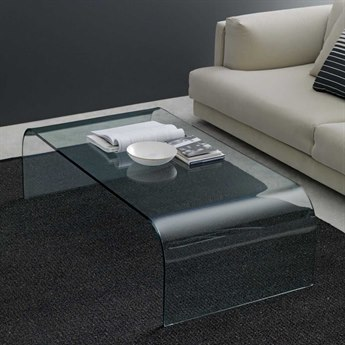 Fontana Arte Curved Cut Float glass Coffee Table FON2633