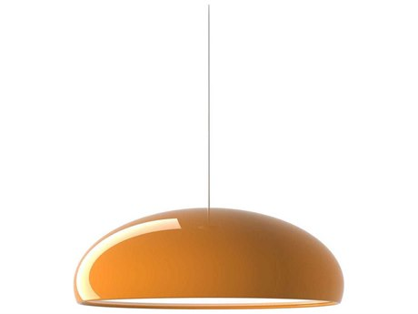 Fontana Arte Pangen Orange Three-Lights 24'' Wide Pendant Light