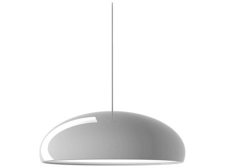 Fontana Arte Pangen White Three-Lights 24'' Wide Pendant Light