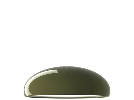 Fontana Arte Pangen Green Three-Lights 24'' Wide Pendant Light