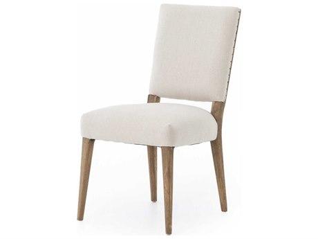 Four Hands Abbott Dark Linen / Nettlewood Shoe Nail Side Dining Chair