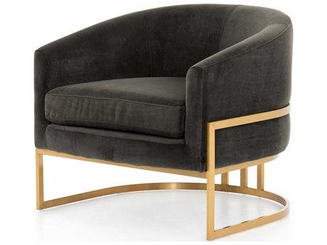 Four Hands Ashford Bella Smoke / Satin Brass Accent Chair FSCASH10405090