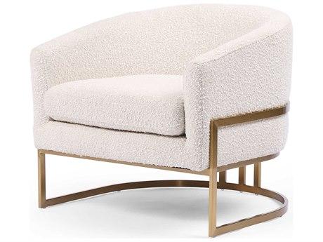 Four Hands Ashford Satin Brass / Knoll Natural Accent Chair FSCASH10405493