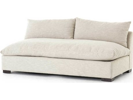 Four Hands Atelier Ashby Oatmeal / Espresso Loveseat Sofa
