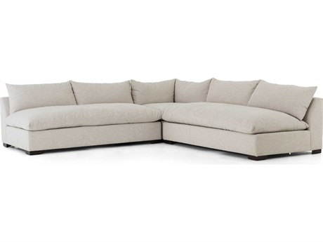 Four Hands Atelier Ashby Oatmeal / Espresso Sectional Sofa