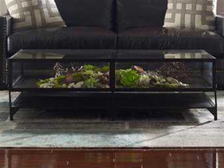 Four Hands Belmont 54 X 30 Rectangular Antique Silver Shadow Box Coffee Table
