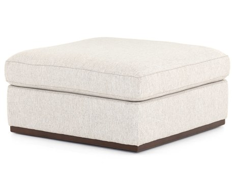 Four Hands Centrale Aldred Silver / Aged Sienna Ottoman