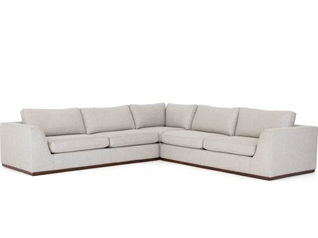 Four Hands Centrale Aldred Silver / Aged Sienna 3-Pc Sectional Sofa
