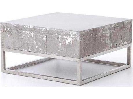 Four Hands Constantine Concrete And Chrome 29.5 x 16 Coffee Table FSVCNSF011
