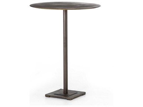 Four Hands Element Aged Brass / Acid Etched 32'' Wide Round Bar Height Dining Table FSIELE87