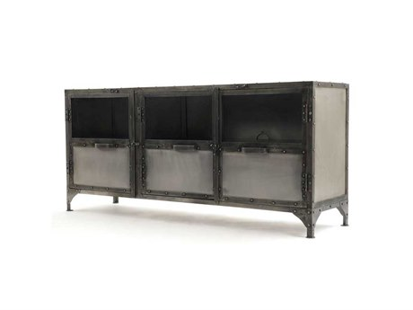 Four Hands Element 60 x 16 Rectangular Ant Nickel Media Console FSIELEPTVNKLANT