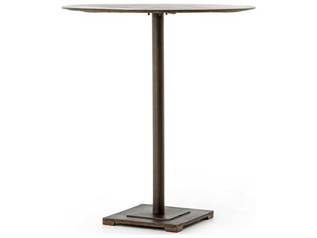 Four Hands Element Aged Brass / Acid Etched 32'' Wide Round Counter Height Dining Table FSIELE86
