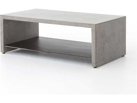 Four Hands Everett Dark Grey 46 x 15.75 Rectangular Hugo Coffee Table FSVEVR001