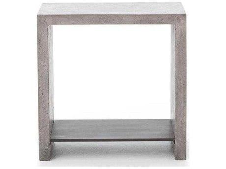 Four Hands Everett Hugo Polished Concrete End Table