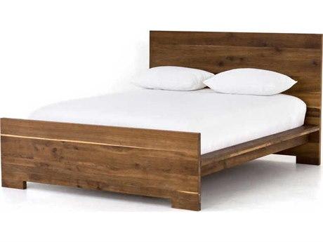 Four Hands Fallon Dark Smoked Oak Queen Panel Bed