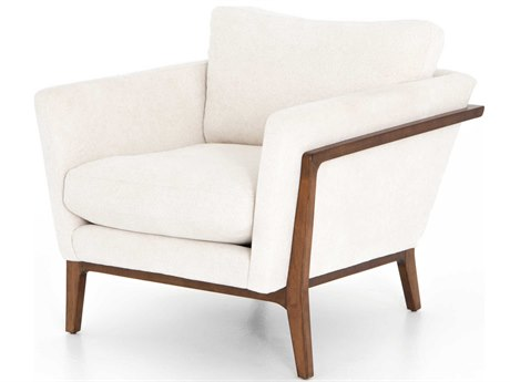 Four Hands Grayson Camargue Cream / Pecan Accent Chair