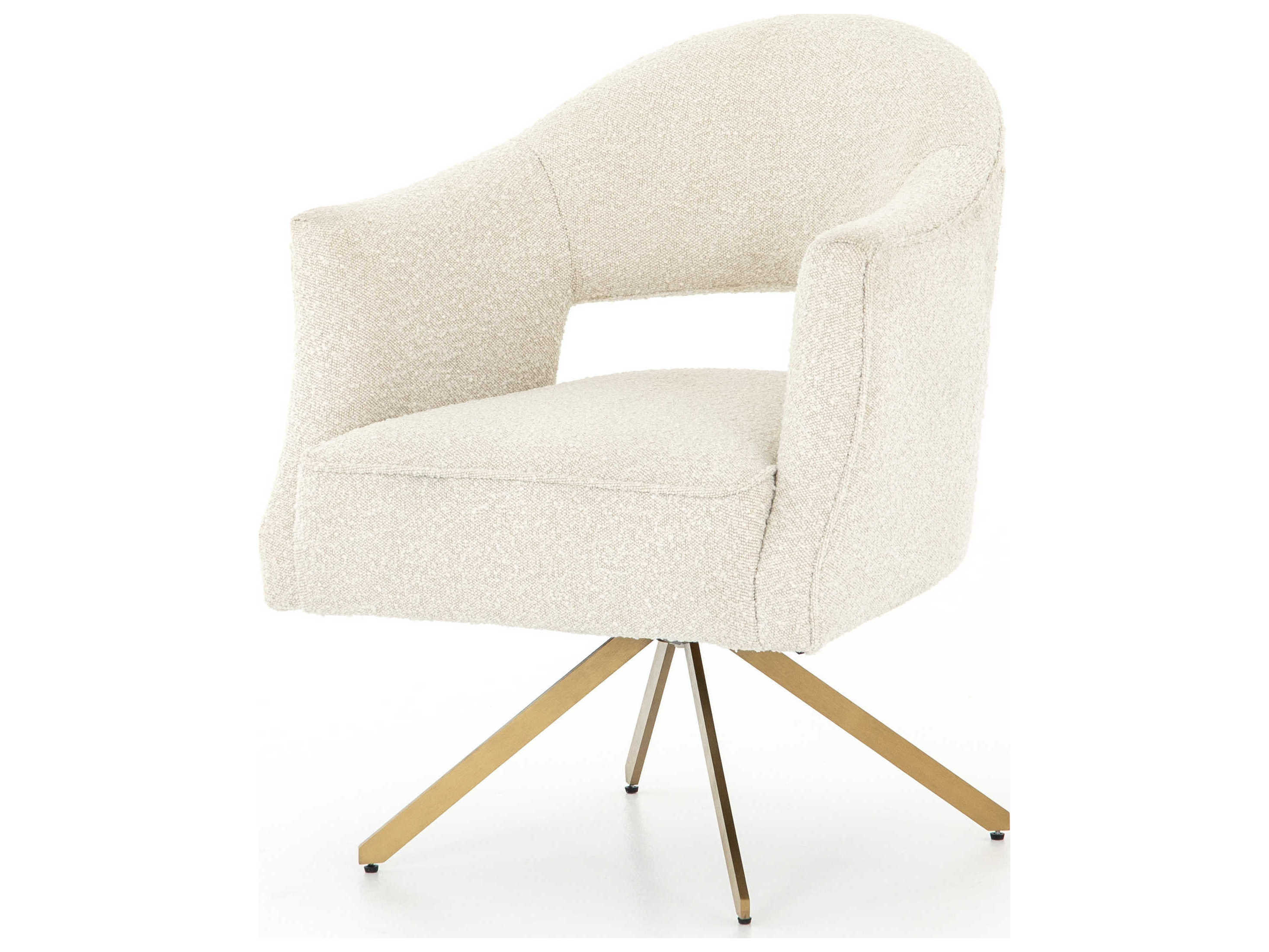 Four Hands Grayson Knoll Natural Polished Brass Computer Chair