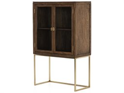 Harmon Aged Brass / Tanner Brown Clear Glass Accent Chest