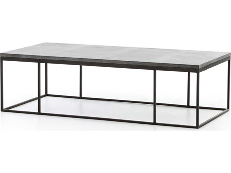 Four Hands Hughes Bluestone 60 x 28 Rectangular Harlow Small Coffee Table