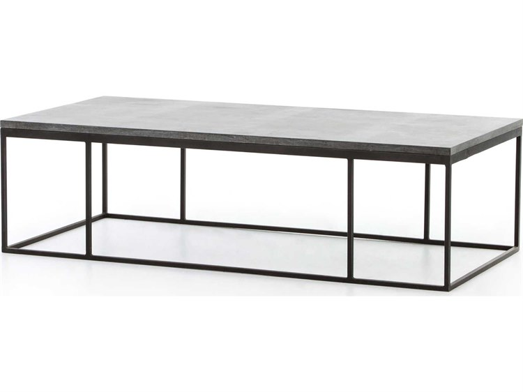 Pleasant Four Hands Hughes Bluestone 60 X 28 Rectangular Harlow Small Coffee Table Caraccident5 Cool Chair Designs And Ideas Caraccident5Info