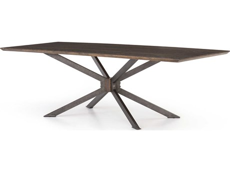 Four Hands Hughes Light Rustic Black / English Brown Oak 78'' Wide Rectangular Dining Table FSCIMP105A