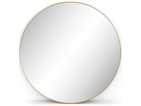 Four Hands Hughes Polished Brass Wall Mirror