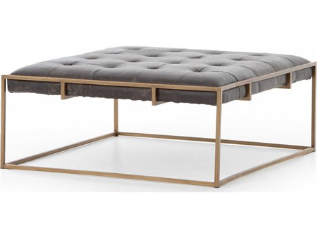 Four Hands Irondale Rialto Ebony / Antique Brass 36'' Wide Square Coffee Table