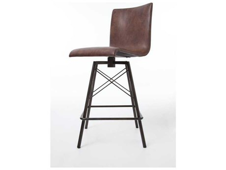 Four Hands Irondale Waxed Black Diaw Side Swivel Bar Height Stool FSCIRDD9E1E3