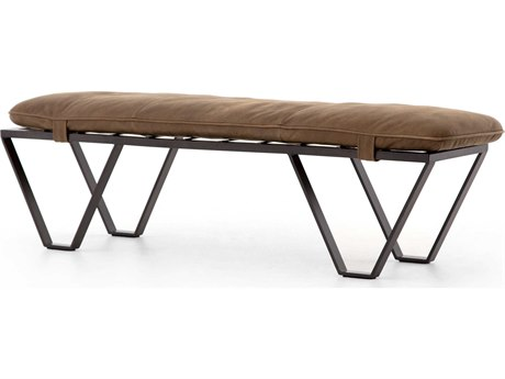 Four Hands Kensington Umber Grey / Gunmetal Accent Bench
