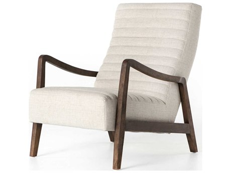 Four Hands Kensington Linen Natural / Rubbed Sienna Brown Accent Chair