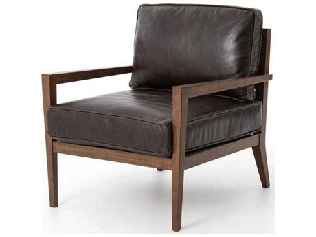 Four Hands Kensington Dark Brown Laurent Wood Frame Accent Chair FSCKENB6X367