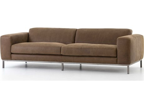 Four Hands Kensington Gris Gunmetal / Umber Grey Sofa Couch