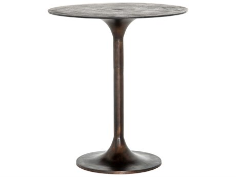 Four Hands Marlow Antique Rust 32'' Wide Round Counter Height Dining Table FSIMAR213