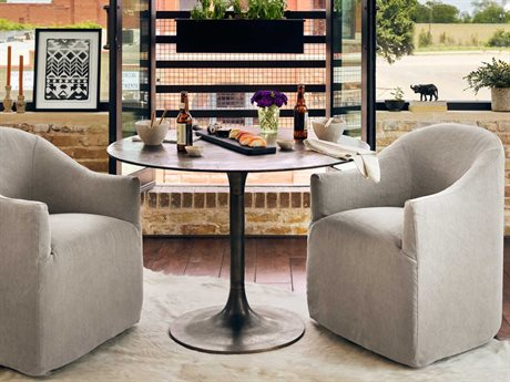 Four Hands Marlow Antique Rust 41.5'' Round Simone Bistro Table