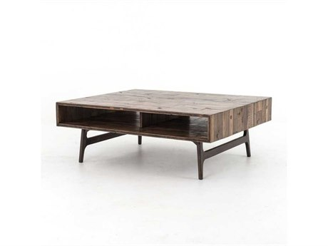 Four Hands Wesson 47 x 39 Rectangular Oak Nico Coffee Table FSUWES011
