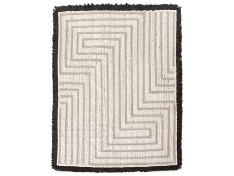 Four Hands Willow Dax Maze Heather Grey / Black Rectangular Area Rug