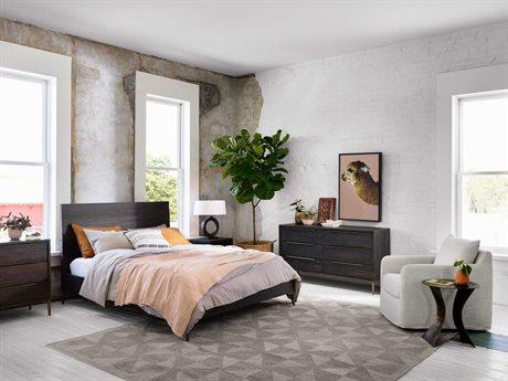 Four Hands Wyeth Dark Carbon / Antique Brass Queen Platform Bed