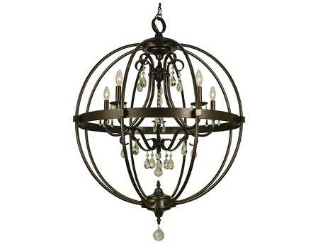 Framburg Compass Five-Light 29'' Wide Chandelier RM1069