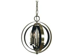 Constell Polished Nickel with Matte Black Four-Light 11'' Wide Mini Chandelier